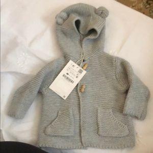 Zara knitted grey sweater